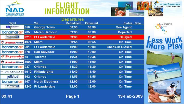 Departures-NAS